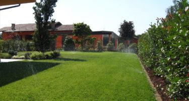 Una corretta irrigazione è fondamentale per mantenere un prato in ottime condizioni.